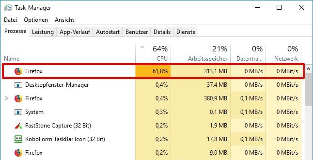 Cómo reducir el uso de CPU en Firefox