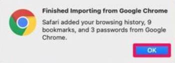 Importar Safari Historial del navegador Contraseñas y marcadores