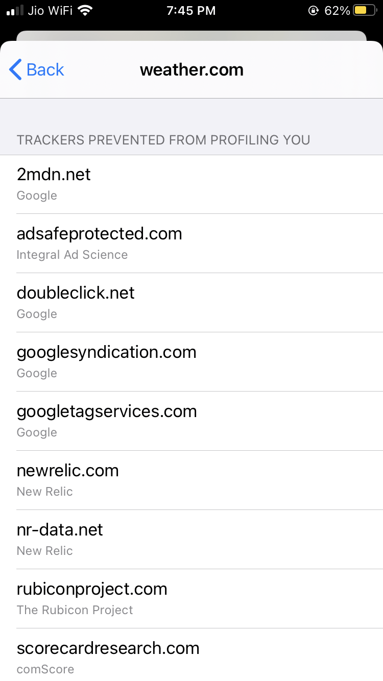 Tracker evita que se perfile en Safari iOS