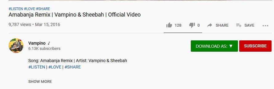 Descarga de video como botón en YouTube