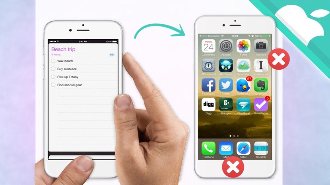 captura de pantalla Safari IPhone