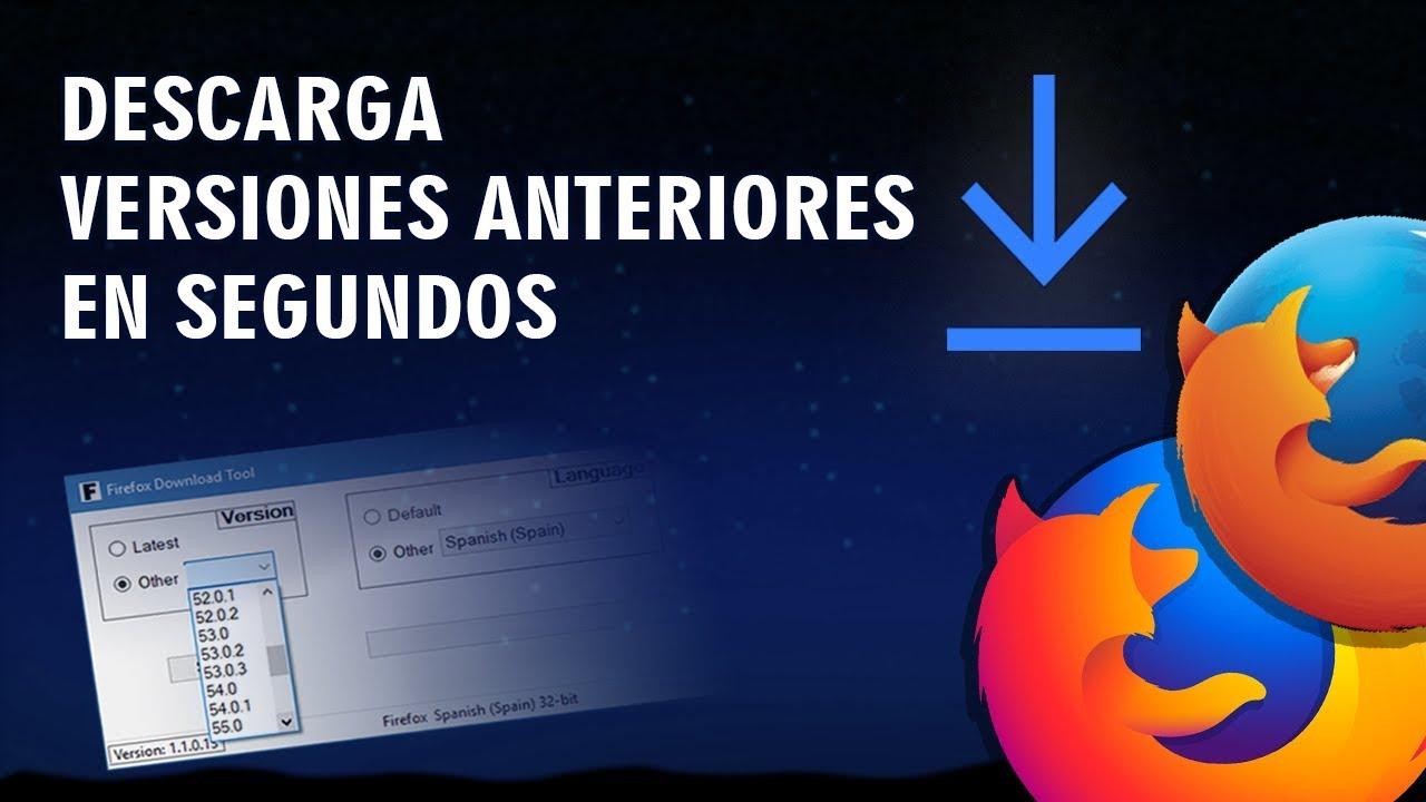 instalar una versión anterior de Firefox