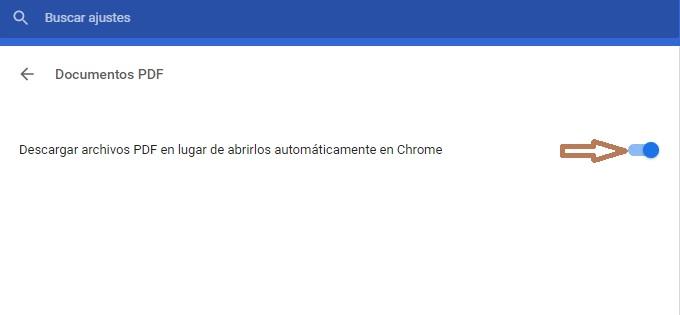 Activar descargar pdf en Chrome