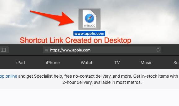 Crear un enlace de acceso directo URL Apple Safari Page