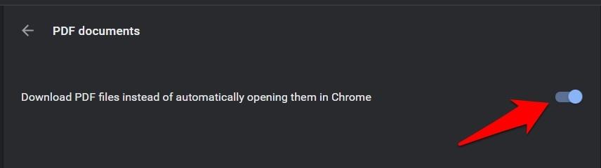 Descargue archivos PDF en lugar de abrirlos automáticamente en inclinación Chrome