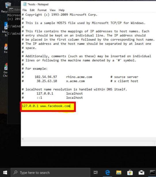 Archivo Hosts en el sistema operativo Windows