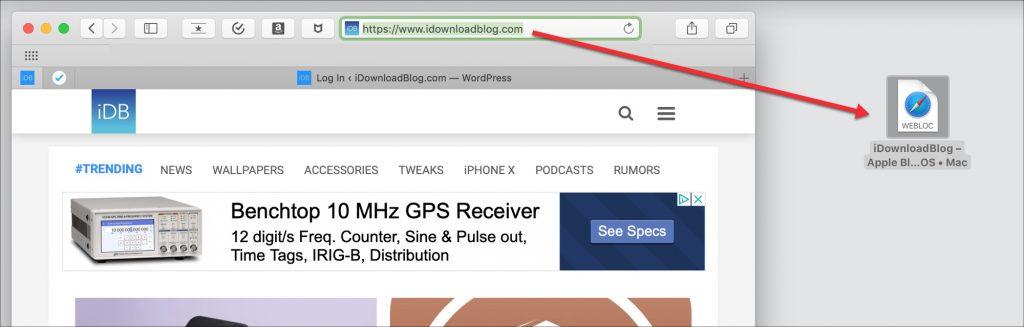 crear un enlace de acceso directo a un sitio web en el escritorio