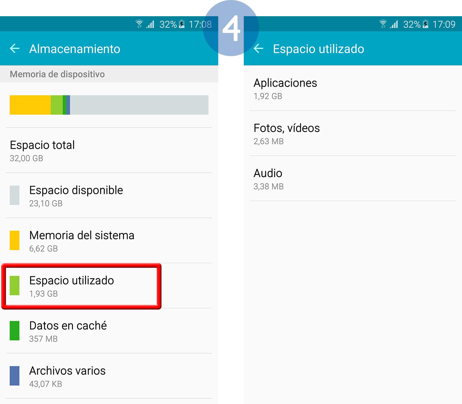 espacio de almacenamiento en Internet Samsung